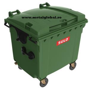 Container 1100 litri capac plat