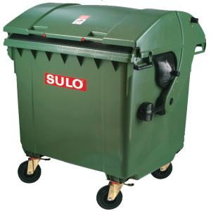 Container 1100 litri din plastic cu capac rotund SULO