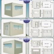 Cabina de paza cu grup sanitar