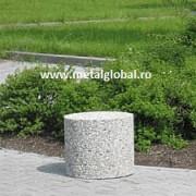 Bariera din beton de forma rotunda