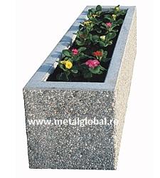 Ghiveci din beton dreptunghiular