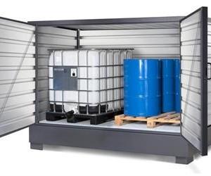 Container securizat cu cuva de retentie