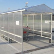 Adapost carucioare supermarket metalglobal 1