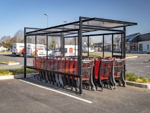 Adapost carucioare supermarket metalglobal